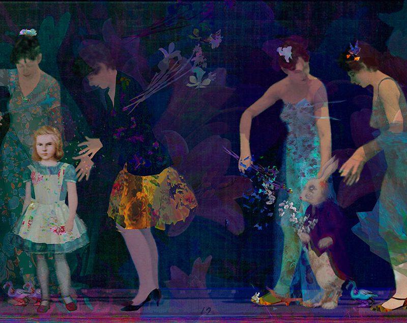 "Alice's Garden, archival inkjet, 40"" x 59"" (image 32"" x 51""), Edition 100 & 24"" x 34"" (image 18"" x 28""), Edition 50"