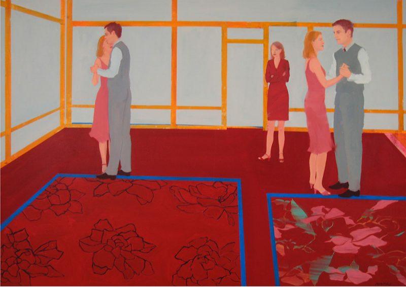 """""""Dancing Class"""", oil on linen, 34"""" x 48"""""""