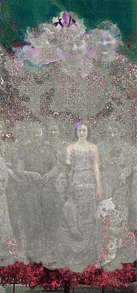 "Ladies in Lace, archival inkjet, 24"" x 15"" (image 17"" x 8""), Edition 100"