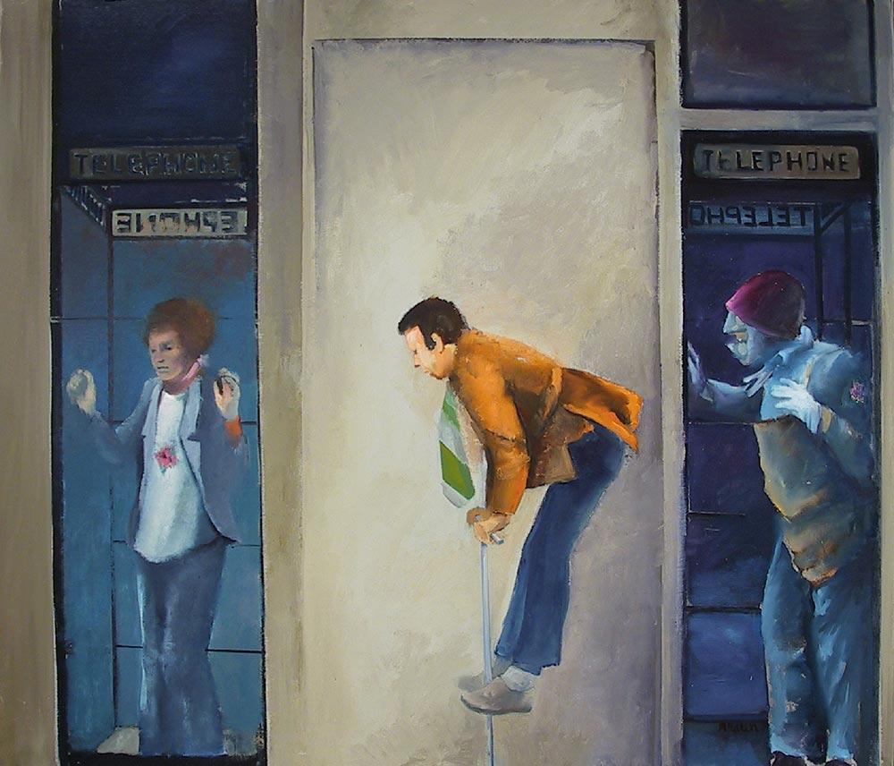 """Telephone, Telephone,"" 36"" x 42"", oil on canvas"