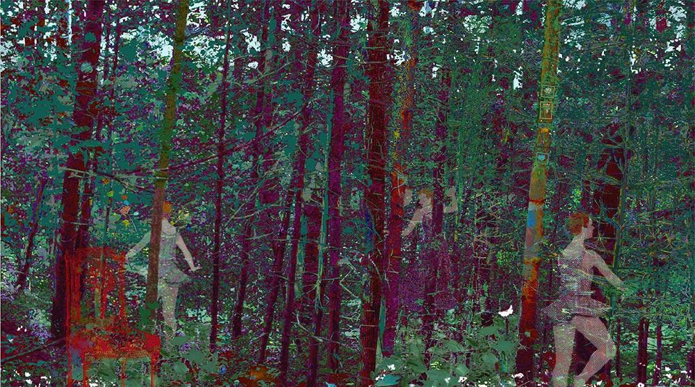 "The Secret Forest, archival inkjet, 24"" x 37"", (image 17"" x 30""), Edition 100"