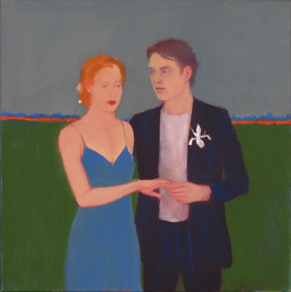 """""""Will You?"""", 12"""" x 12"""", oil on linen"""
