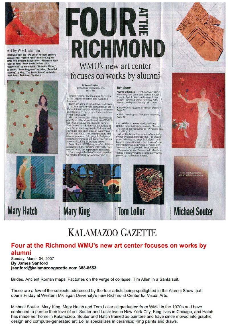 Kalamazoo Gazette, March 4, 2007