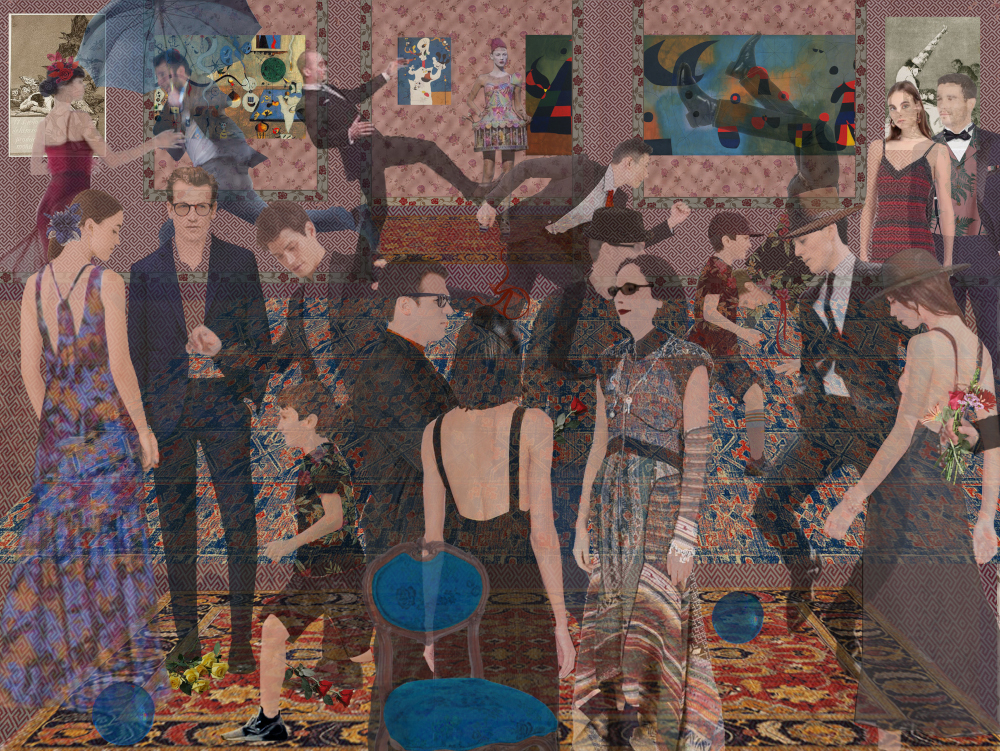 "Her Sister's Party, 24"" x 30"" (image 18"" x 24""), archival inkjet"